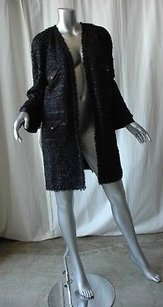 Chanel Metallic Tweed Black Jacket