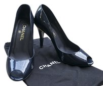 Chanel Pumps Dark Blue Formal