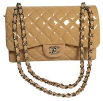 Chanel Double Flap Jumbo Quilted Orange Cream Shoulder Bag