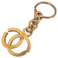 Chanel Engraved Gripoix Gold Charm Pendant Key Chain CCJY13