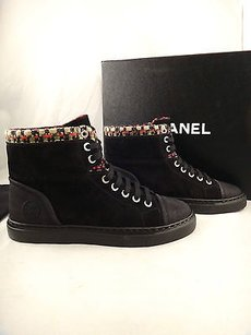 Chanel 15a Suede Red Black Athletic