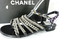 Chanel Chain Of Love Grey Sandals