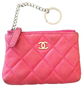 Chanel Gorgeous Chanel Key/Coin Pouch. Quilted. Pink.