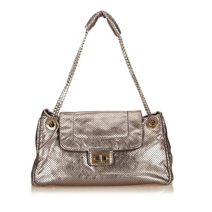 Chanel Gray Leather Others 6gchsh008 Shoulder Bag