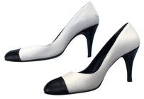 Chanel Heels Cap Toe Ivory and Black Pumps