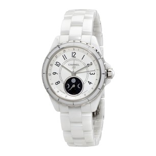 Chanel J12 Moon Phase Mother Pearl Dial White Ceramic Ladies Watch