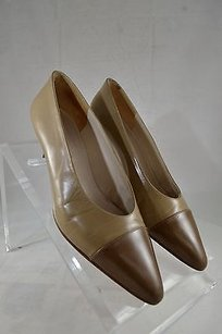 Chanel Vintage Two Tone Beige Pumps