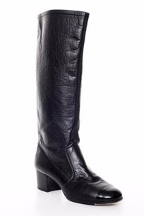 Chanel Leather Heel Black Boots