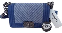 Chanel Le Boy Boy Boy Limited Edition 2015 Denim Act Ii Cross Body Shoulder Bag