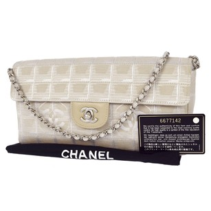 Chanel Leather Beige Shoulder Bag