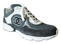 Chanel Leather Fashion Sneakers Grey Athletic