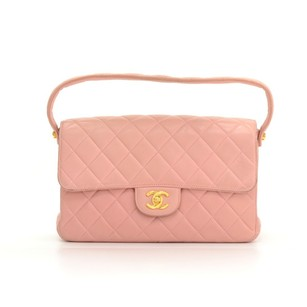 Chanel Leather Quilted Handbag Shoulder Bag