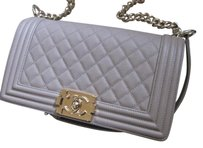 Chanel Leboy Flap Caviar Beige Shoulder Bag