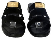 Chanel Maxi Le Boy Quilted Leather Black Sandals