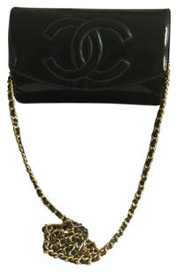 Chanel Patent Woc Leather Wallet On Chain Cross Body Bag