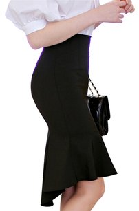Chanel Louis Vuitton Dior Maxi Skirt Black