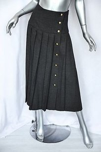 Chanel Boutique Charcoal Grey Skirt Grays