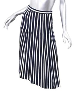 Chanel Striped Navy Bluewhite Skirt Multi-Color