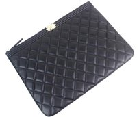 Chanel Pouch Case Black Clutch