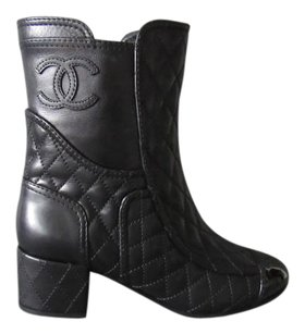 Chanel Quilted Leather Black Boots