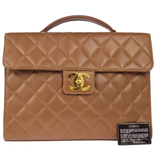 Chanel Quilted Leather Travel Bag