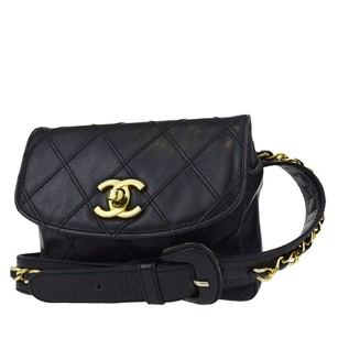 Chanel Quilted Pouch Cross Body Bag