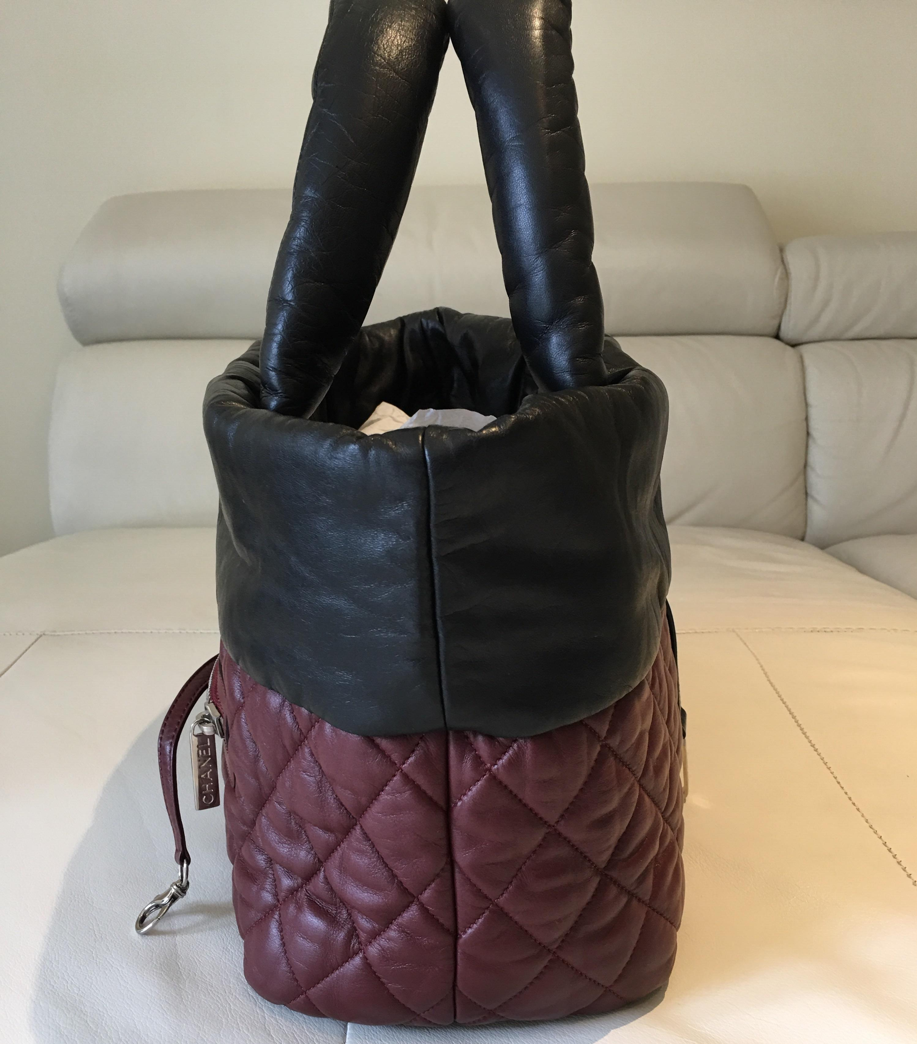 Chanel Leather Cocoon Reversible Black/Red Tote Bag | Totes on Sale
