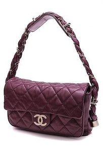 Chanel Quilted Lambskin Lady Braid Flap Satchel in Purple
