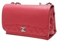 Chanel Calfskin Accordion Satchel in Red