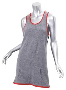 Chanel short dress Gray Womens Cashmere Stripe Knit Sleeveless Shift Tunic Mini 408 on Tradesy