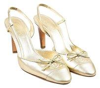 Chanel Soft Tone Gold Pumps