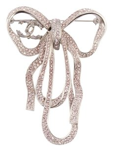 Chanel **sold on afc** Crystal Bow Pin