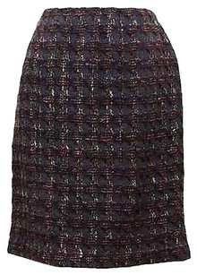 Chanel Straight Pencil Skirt Navy, Brown, Pinks