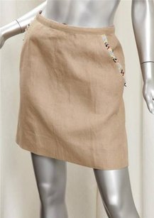 Chanel 00c Womens Beige Tan Skirt
