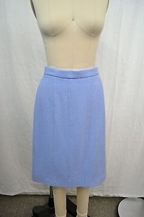 Chanel Boutique Wool Classic Straight Skirt Periwinkle
