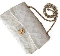 Chanel Timeless Lambskin Gold Hardware Double Flap Quilted Shoulder Bag