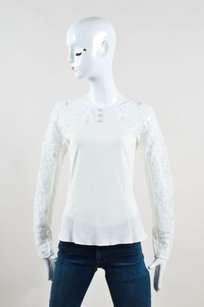 Chanel Knit Sheer Top Cream