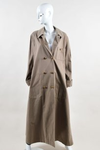 Chanel Taupe Gold Tone Trench Coat