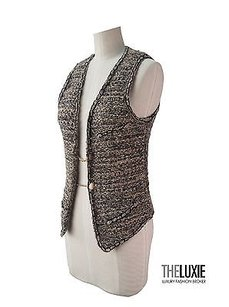 Chanel Knit Vest W Gold Sweater