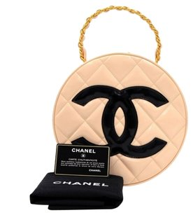 Chanel Vintage Baby Quilted Satchel in Pink