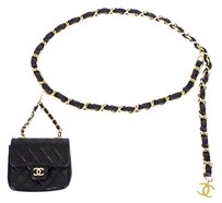 Chanel Vintage Chanel Chain Belt With Micro Mini Classic Bag Charm