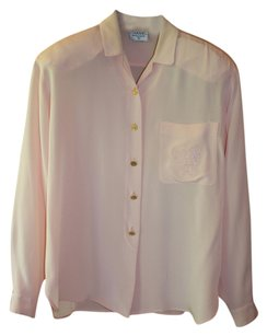 Chanel Vintage Exclusive Top Light Pink Silk