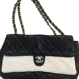 Chanel Vintage Leather Classic Monogram Shoulder Bag