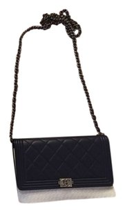 Chanel Vintage Walletonchain Leather Cross Body Bag
