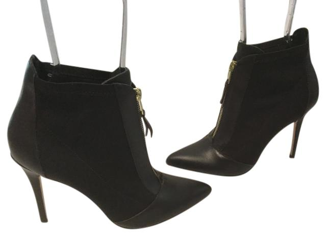 Charles by Boots/Booties Charles David Black Leather Stretch Fabric Ankle Boots/Booties by Size US 7.5 Regular (M, B) de093c