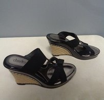 Charles by Charles David Man Made Strappy Wedge Heel Sma9714 Black Sandals