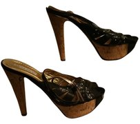 Charles David black and gold Sandals