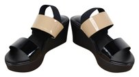 Charles David Womens Black Beige Sandals