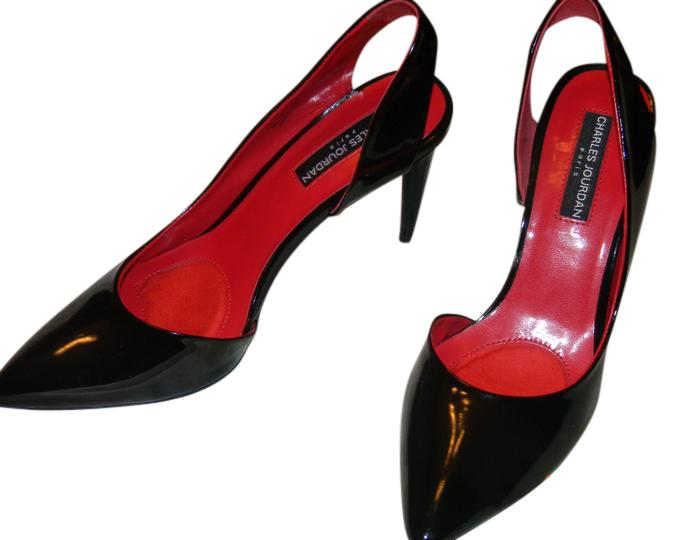 from china for sale outlet best place Charles Jourdan Leather Slingback Pumps buy cheap ebay outlet best prices CjHVSA