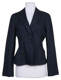Charles Nolan Charles Nolan Womens Black Blazer Jacket Career Long Sleeve